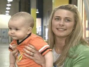 Kristy Roten said she comes to Stroller Fit six days a week with her son, Lucas.
