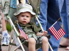 About 50,000 people gathered in downtown Raleigh to honor the military during the Salute to Our Troops parade on April 26, 2008.
