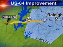 DOT considers upgrading U.S. 64 in Wake, Chatham