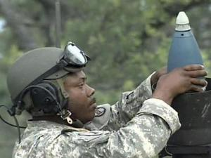 North Carolina National Guardsmen train at Camp Shelby, Miss., the largest National Guard training site in the country, on the weekend of May 18-19, 2008. Their unit is expected to deploy to Iraq in early 2009.