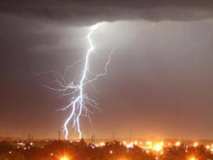 Viewer Bill Belvin shot this picture of a lightning bolt in Fayetteville, looking east from the Bordeaux Holiday Inn.
