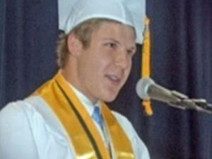 Daniel Klufas, of Easton, Conn., at his high school graduation.