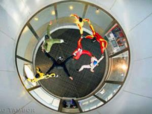 A wind tunnel lets people simulate skydiving at the ParaClete XP SkyVenture{{/a}} in Raeford, Hoke County. (Photo courtesy of www.paracletexp.com)