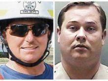 Fireman Gene Thomas and Deputy Steve Boehm (Courtesy of the Jacksonville Daily News)
