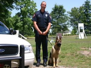 Cary police K-9 handler Jeremy Burgin and dog, Max