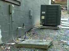 Copper stolen out of air-conditioning units