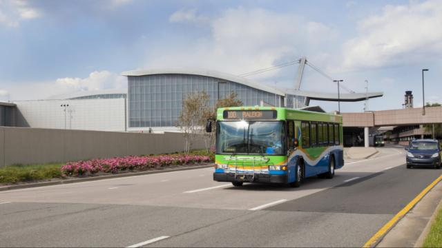 Triangle Transit Authority bus.