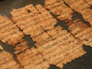 Fragments of biblical texts more than 2,000 years old are part of the Dead Sea Scrolls exhibition at the North Carolina Museum of Natural Sciences.