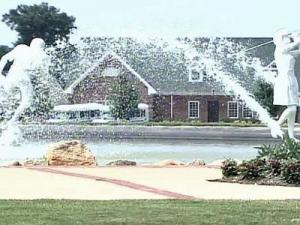 A 4-year-old boy nearly drowned in a fountain on Sunday at the Riverwood Athletic Subdivision.