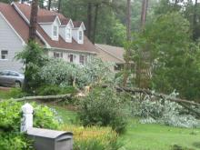 Severe thunderstorms and showers pounded the Triangle during the weekend of July 4, 2008.