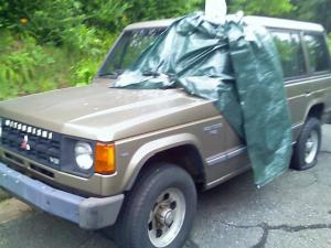 This is one of the vehicles that was vandalized in Durham overnight.