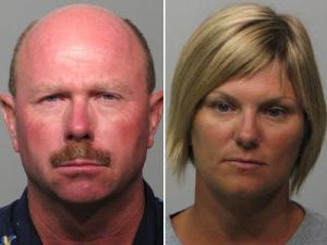 Richard Nelson Pope, left, and Kimberly Smith Pope