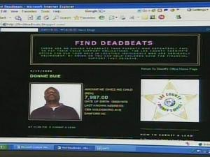 Lee County Sheriff's Office Web site for deadbeat parents