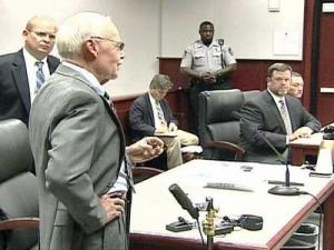 Ross Leidy talks to the court about his wife during Brian Reid's sentencing hearing Thursday, Aug. 21, 2008.