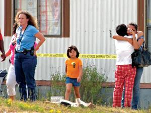 Eleven-year-old, Giovann Lopez, was jumping on a trampoline to celebrate his birthday when his 12-year-old neighbor accidentally shot him at 4842 U.S. Highway 401, outside of Youngsville, on Friday, Aug. 22, 2008. (Photo courtesy of The Franklin Times)
