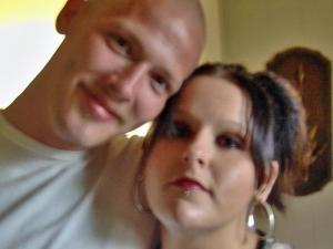 Kevin West, 23, poses with one of his sisters in this August 2007 photo. On Saturday, Sept. 6, 2008, West was struck by a car and left for nearly 14 hours along Brick Mill Road in Harnett County.