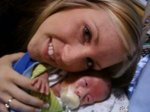Michaela Blanton and son Tye (Photo courtesy of Mission Hospitals)