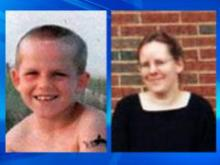 Authorities are looking for Matthew James Wood, 7, and Teresa Wood, 37.