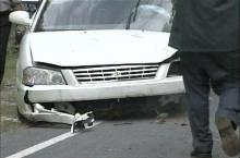 Authorities took away this car after the school bus crash.