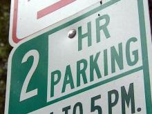 2-hour parking sign, two-hour parking sign