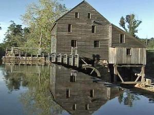 The historic mill at Yakes Mill Park, off Lake Wheeler Road in southwestern Wake County.