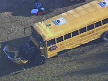 Sky 5 coverage of Johnston bus wreck