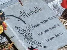 Michelle Young's death marked with graveside memorial