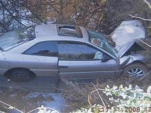 Joseph Rodney Puryear, 41, said he blacked out around midnight Monday while driving home from work. His 1998 Chrysler hit an embankment and landed in a creek, near 6711 Old Roxboro Road, outside Oxford.