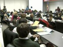 The bill approved Wednesday night was amended to eliminate a suggestion that students be expelled.