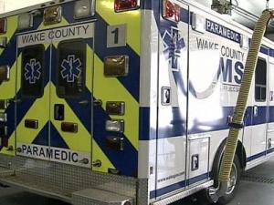 A Wake County ambulance