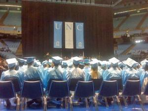 Students attended the December commencement ceremony at the University of North Carolina at Chapel Hill on Sunday, Dec. 14, 2008.