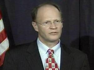 In a Dec. 16, 2008, news conference, Mayor Charles Meeker announces plans for Raleigh to seek money from a federal stimulus package to boost the local economy.