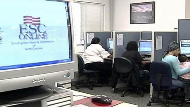 Growing numbers of N.C. residents are searching for work and collecting unemployment benefits at Employment Security Commission offices.