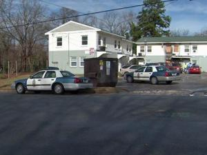Raleigh police found a man shot to death outside an apartment complex at 925-4 E. Lane St., south of Oakwood Cemetery, shortly after 2 a.m. Sunday, Dec. 21, 2008.