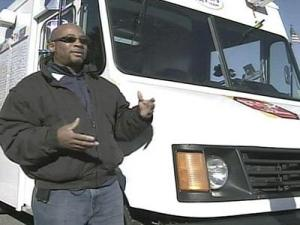 Dwight Bell operates his Daddy D's Ice Cream truck in Spring Lake.