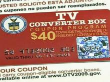 Coupon for a digital TV converter box