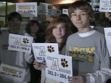 Apex parents, students protest before reassignment meeting