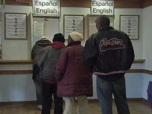 The Durham County Department of Social Services has seen an increase in the number of people applying for food stamps.