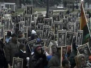 Hundreds of people marched through downtown Raleigh Monday morning to remember the life and legacy of slain civil rights leader Dr. Martin Luther King Jr.