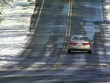 N.C. DOT treat icy roads