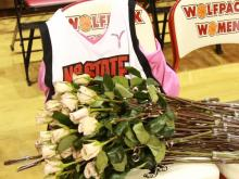 Friends and fans of North Carolina State women's basketball coach Kay Yow returned to the basketball court named in her honor to cheer her one more time Wednesday evening.