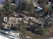 Sky 5: Remains of former Rockefeller estate house