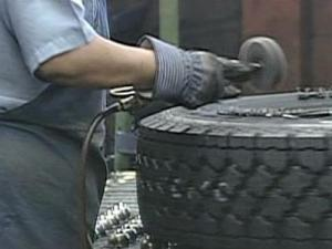The Goodyear Tire & Rubber Co. in Fayetteville normally produces around 30,000 tires a day.