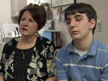 Colleen Street and her son, Kyle, who is being treated by Duke ophthalmologist Dr. Sharon Freedman.