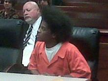 Latrell Cyrell Latham, in court Feb. 12, 2009, faces a charge of first-degree murder in the Oct. 23, 2007, slaying of Richard Gus Brown, 74.