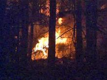 Fire hits Johnston County woods