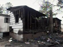 A mobile home at 5539 Lafayette St. in Hope Mills was destroyed by a fire on Feb. 17, 2009. Authorities said a neighbor set the fire.