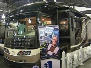 People check out one of the larger RVs for sale at the 20th Annual North Carolina RV and Camping Show held at the N.C. State Fairgrounds Feb. 27 - 29, 2009.
