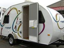 The r-pod Ultra Lite Travel Trailer by Forest River is one of the cheaper and smaller models at the 20th Annual North Carolina RV and Camping Show held at the N.C. State Fairgrounds Feb. 27 - 29, 2009.