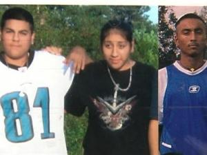 Jesus Balderas, 16, left, with his sister, Yuliana Baldera, and brother Javier Baldera, were killed Saturday night in an auto wreck near Atlanta.